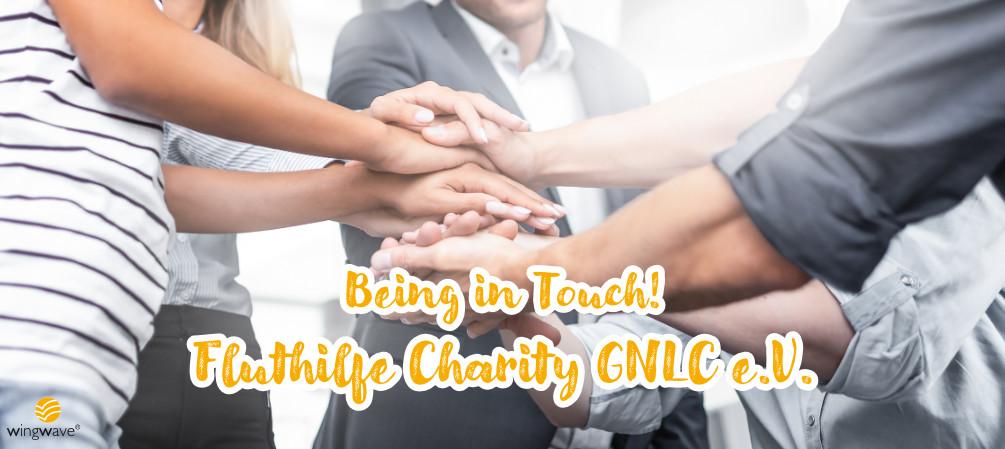 """""""Being in Touch"""" -  Fluthilfe Charity als Hilfe zum Selbst-Coaching für die Flut-Betroffenen"""